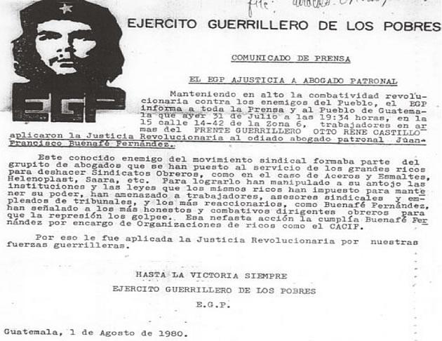 Resultado de imagen para guerrilla guatemalteca y gobierno de méxico